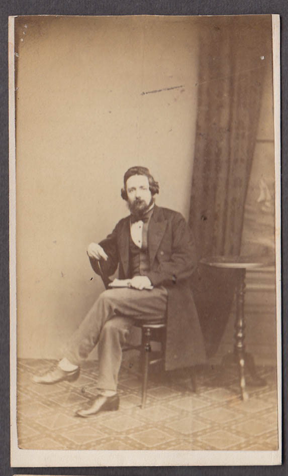 Image for Charles James Fox seated man CDV by Mumby Cavendish Sq London 1860s