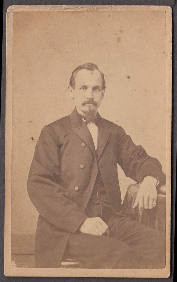 Image for Jacob Metz seated portrait CDV by Howell's Studio NYC 1860s