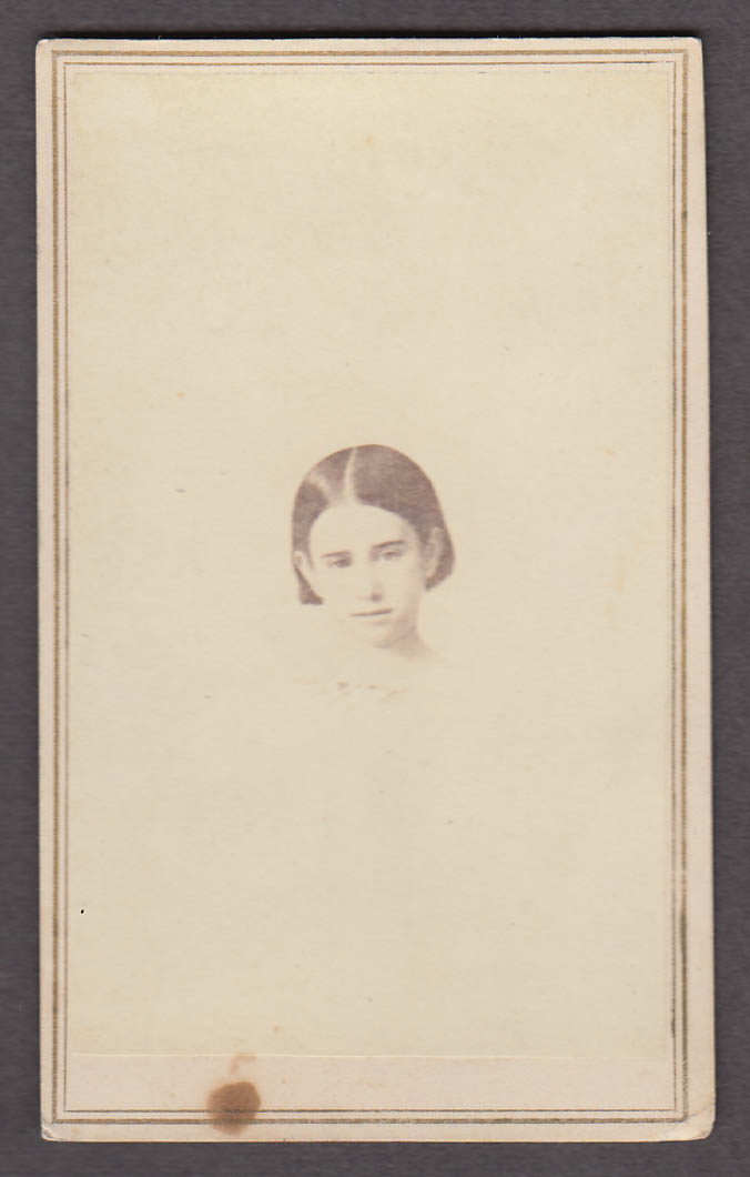 Mary Howard portrait CDV by Higgins & Co Boston MA