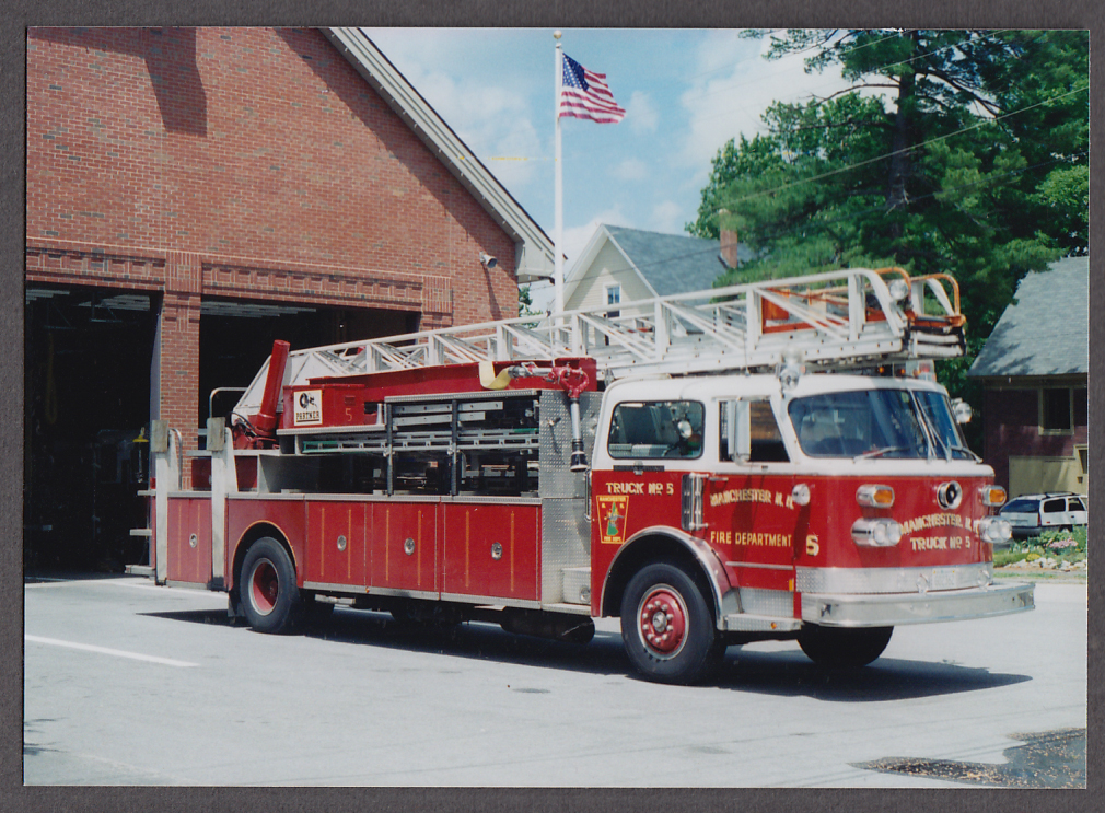 Image for Manchester MA FD Ladder Truck Engine #5 fire truck photo