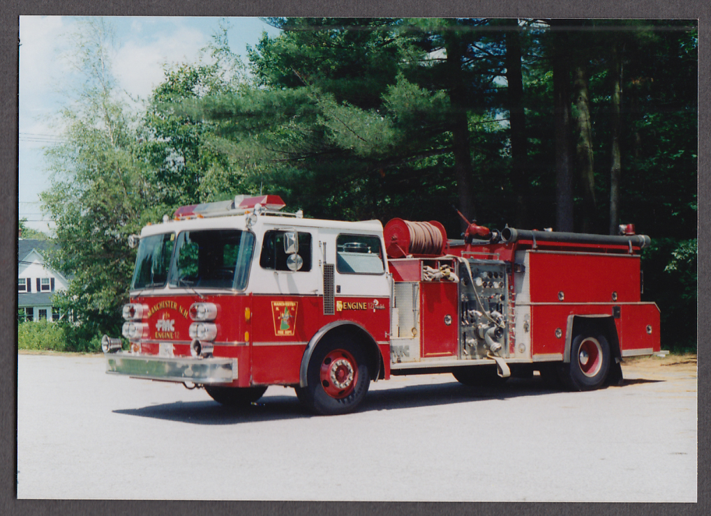 Manchester MA FD FMC Pumper Engine #12 fire truck photo
