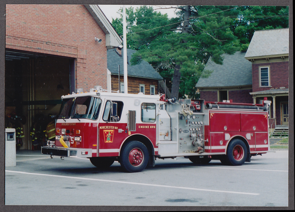 Image for Manchester MA FD Pumper Engine #5 fire truck photo