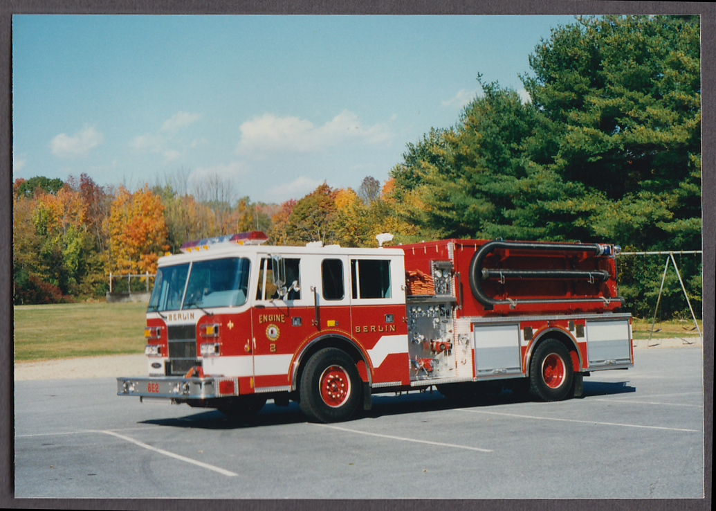 Berlin MA FD Pumper Engine #2 fire truck photo