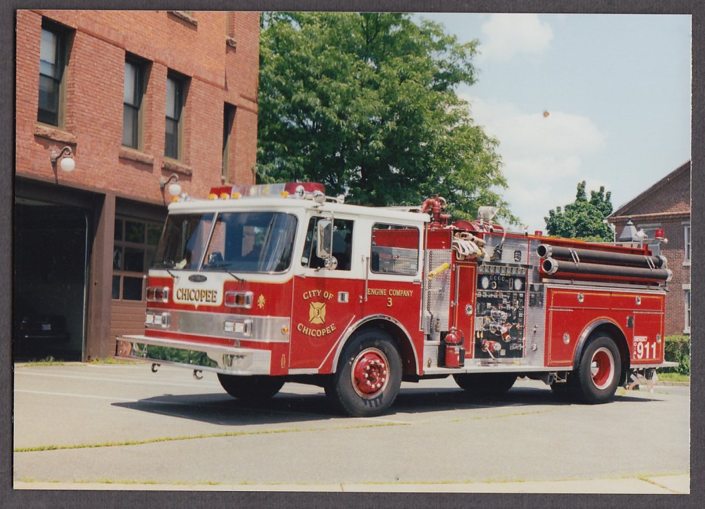Image for Chicopee MA FD Pierce Pumper Engine Company #3 fire truck photo