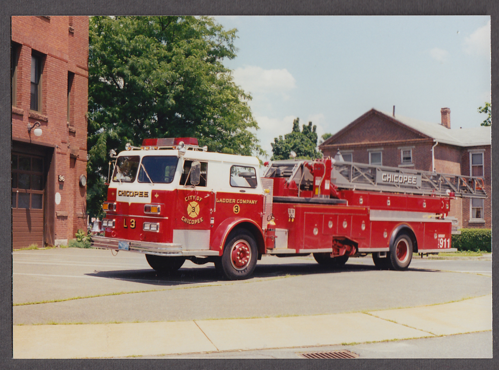 Image for Chicopee MA FD Ladder Truck Company Engine #3 fire truck photo