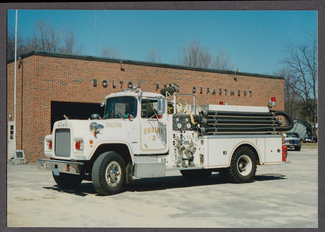 Image for Bolton MA FD Mack Pumper Engine #2 fire truck photo