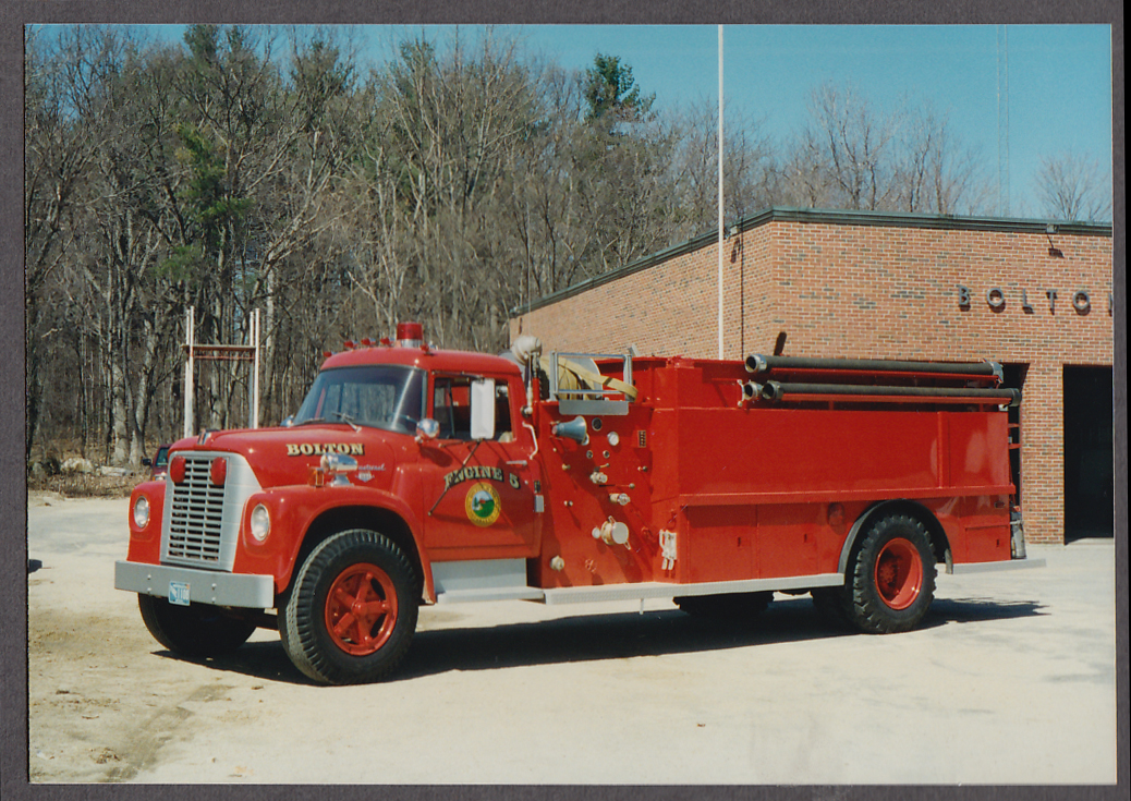 Image for Bolton MA FD International 1890 Pumper Engine #5 fire truck photo