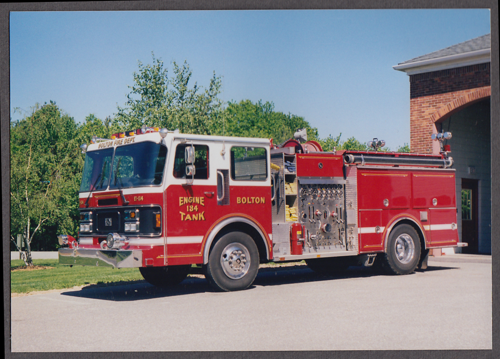 Bolton MA FD Tank Pumper Engine #134 fire truck photo