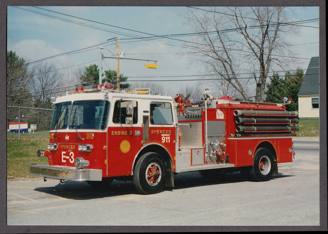 Image for Spencer MA FD Maxim Pumper Engine #3 fire truck photo
