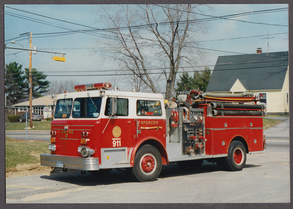 Image for Spencer MA FD Maxim Pumper Engine #2 fire truck photo