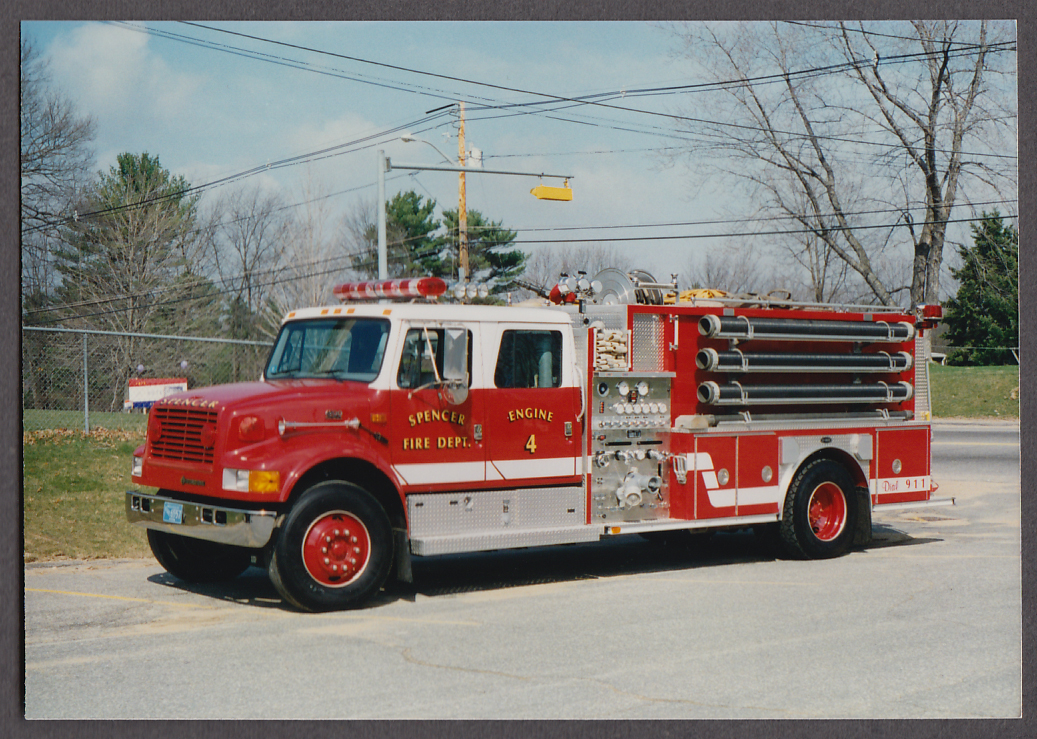 Image for Spencer MA FD International 4200 Pumper Engine #4 fire truck photo