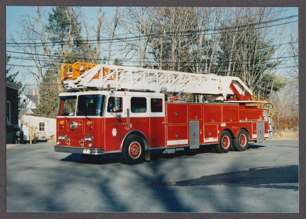 Littleton MA FD Seagrave Tower Ladder Engine #2 fire truck photo