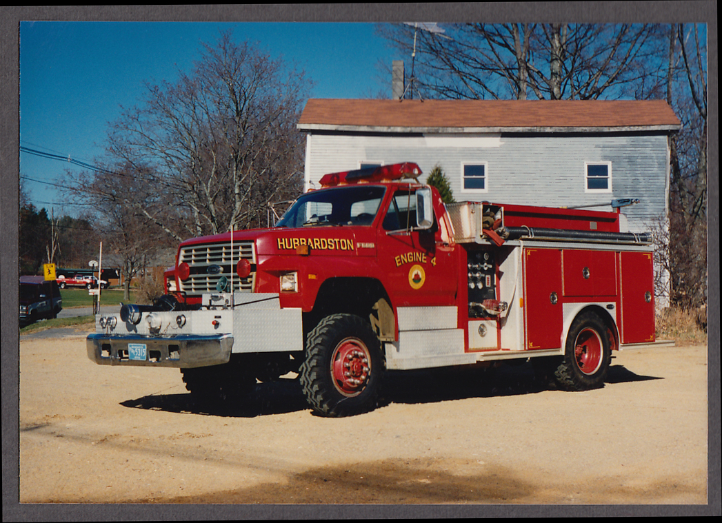 Image for Hubbardston MA FD Ford F600 Pumper Engine #4 fire truck photo
