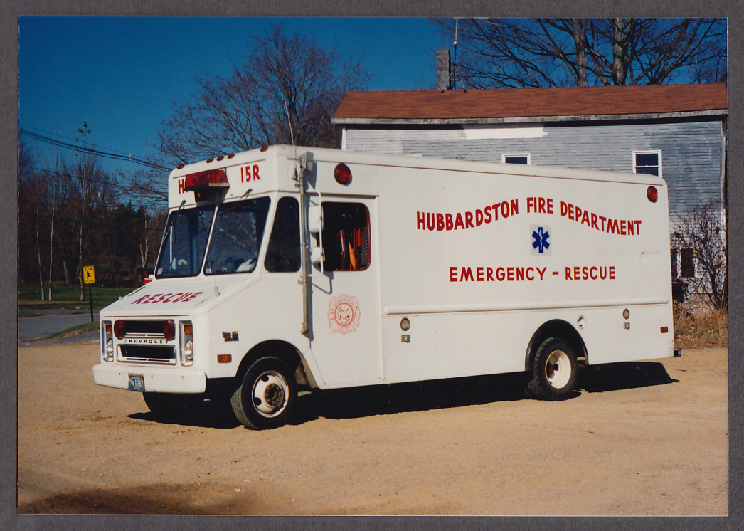 Image for Hubbardston MA FD Chevrolet Emergency Rescue Truck #15R fire truck photo