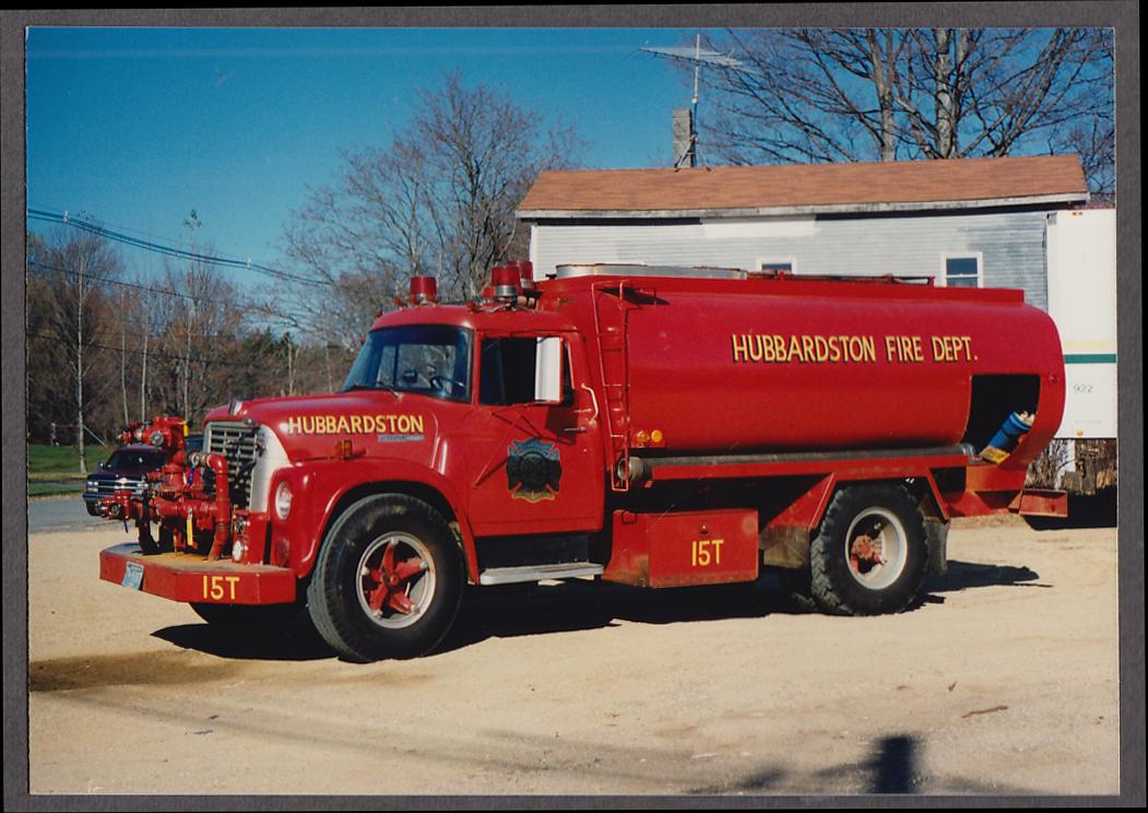 Hubbardston MA FD International Loadstar Water Tank Engine #15T fire truck photo