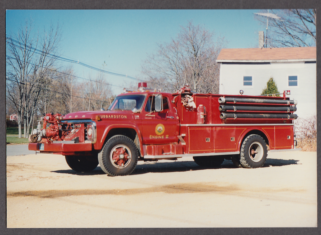 Image for Hubbardston MA FD Ford F-800 Pumper Engine #2 fire truck photo