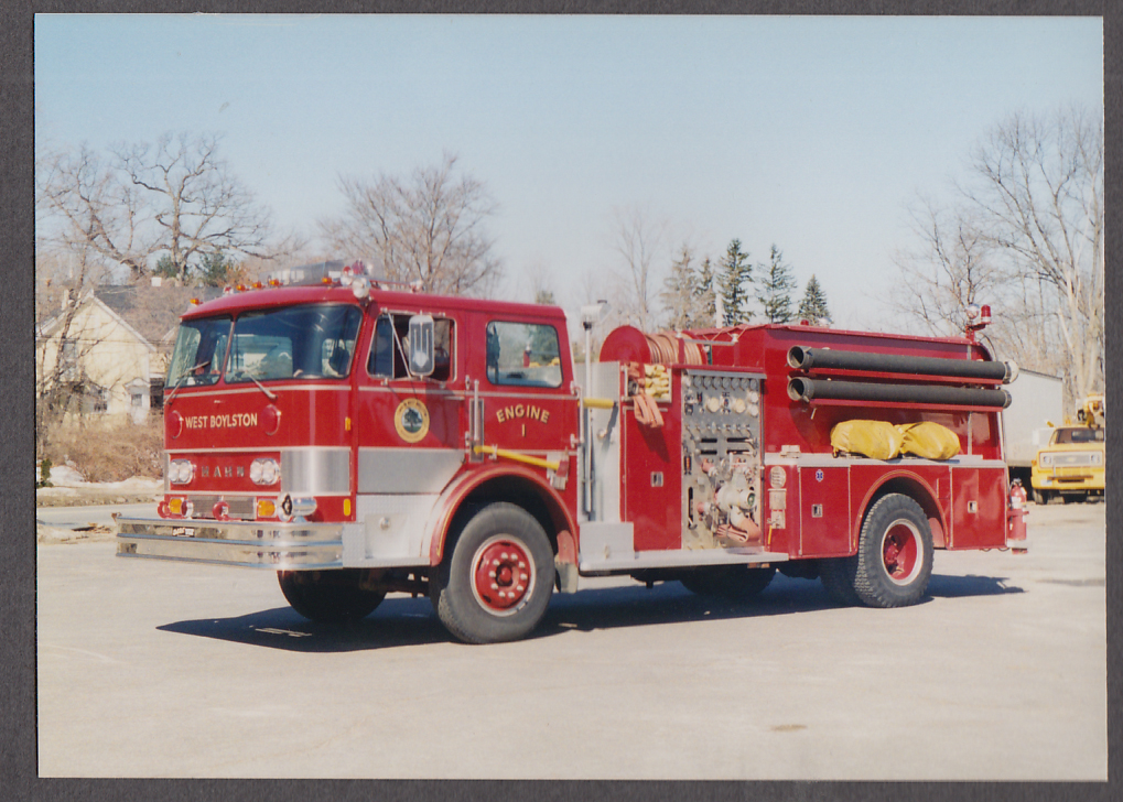 Image for West Boylston MA FD Mack Pumper Engine #1 fire truck photo