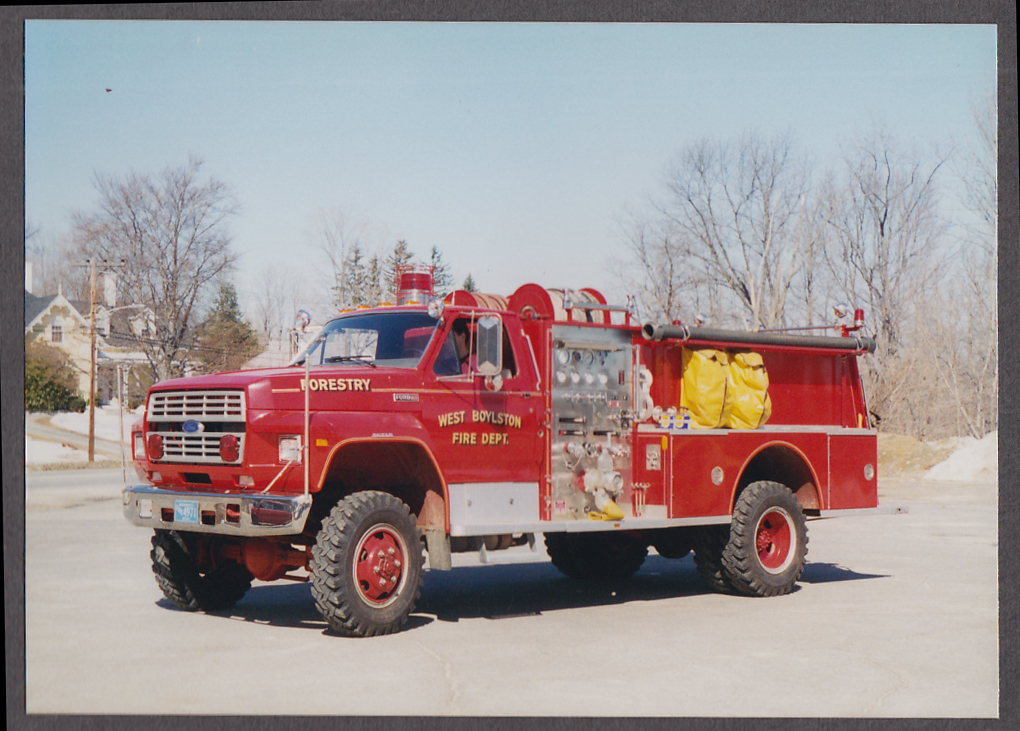 Image for West Boylston MA FD Ford Forestry Pumper Engine fire truck photo
