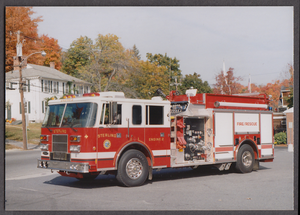 Image for Sterling MA FD Pierce Fire Rescue Pumper Engine #2 fire truck photo