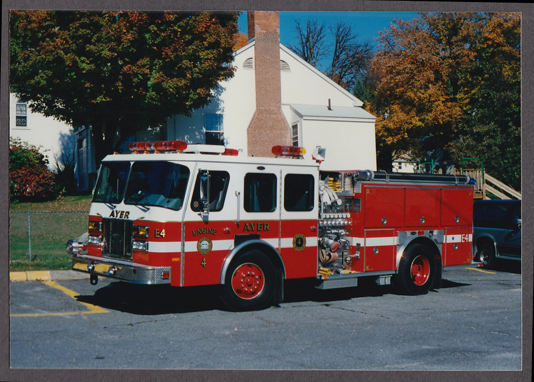 Ayer MA FD Pumper Engine #4 fire truck photo