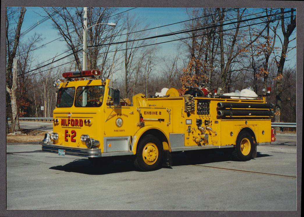 Milford MA FD Maxim Pumper Engine #2 fire truck photo