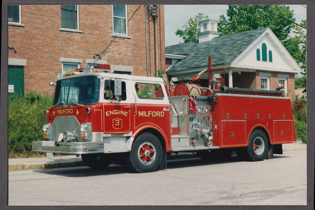 Milford MA FD Mack Pumper Engine #3 fire truck photo