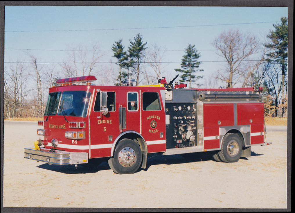 Image for Webster MA FD Pumper Engine #5 fire truck photo