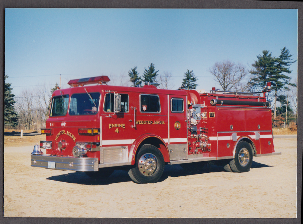 Image for Webster MA FD Pumper Engine #4 fire truck photo