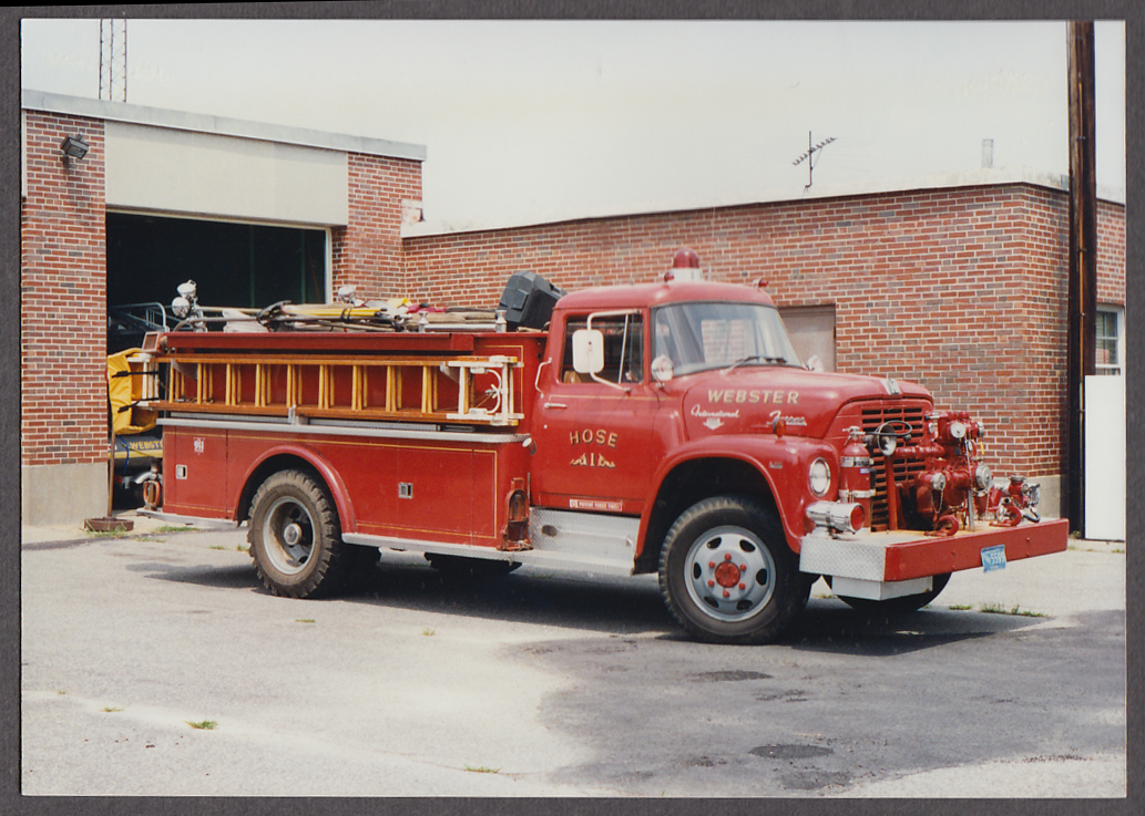 Webster MA FD International Farrar Pumper Hose Truck #1 fire truck photo