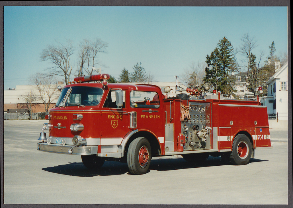 Image for Franklin MA FD American LaFrance Pumper Engine #4 fire truck photo