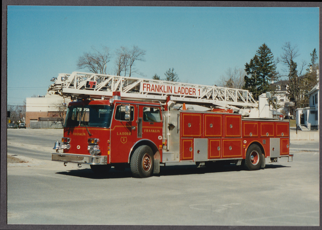 Image for Franklin MA FD LT Ladder Engine #1 fire truck photo