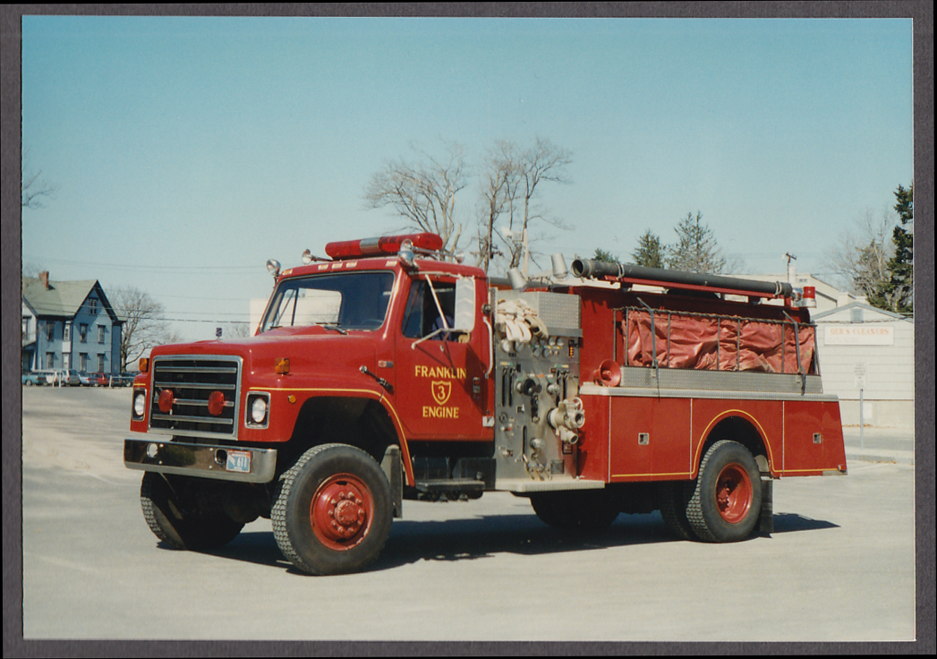 Image for Franklin MA FD International Pumper Engine #3 fire truck photo