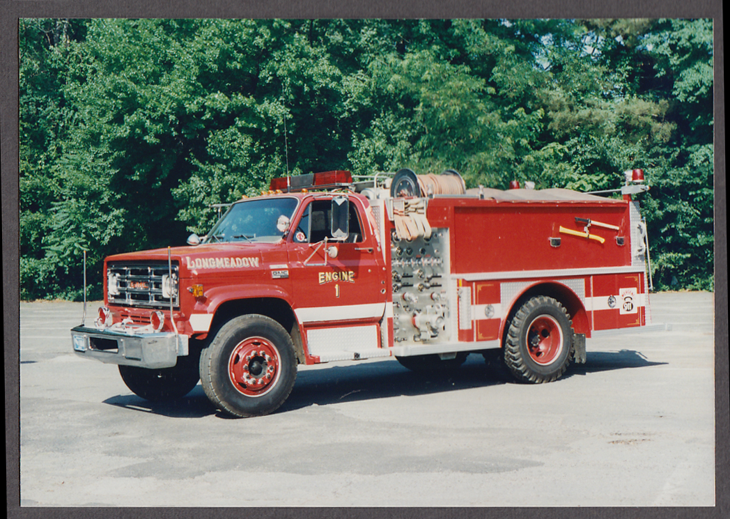 Longmeadow MA FD GMC Pumper Engine #1 fire truck photo