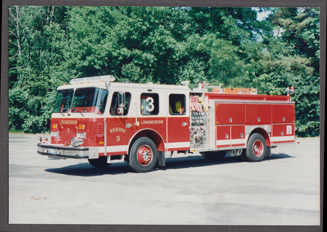 Longmeadow MA FD Pierce Pumper Engine #3 fire truck photo