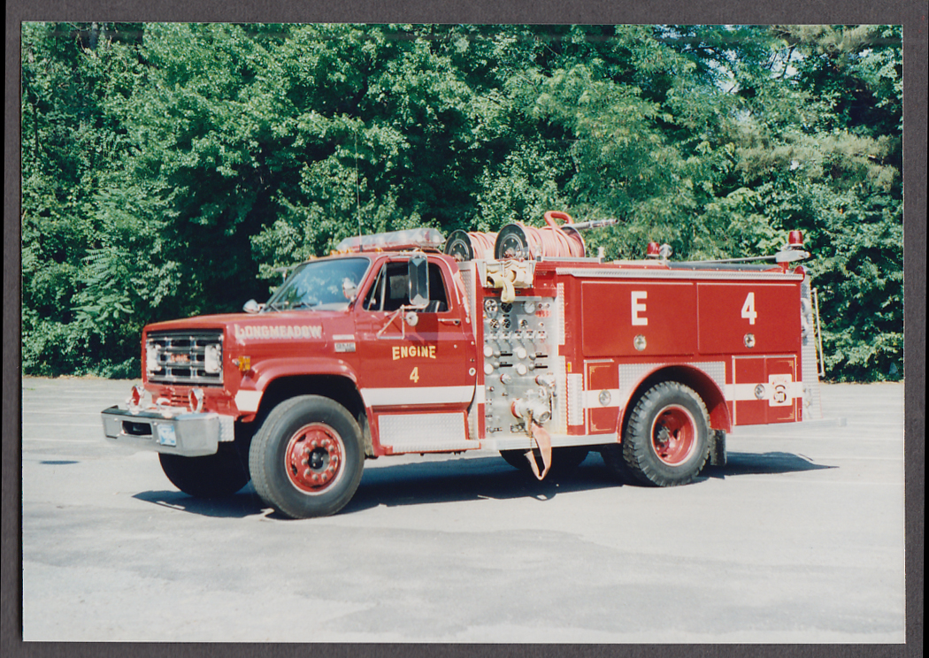 Longmeadow MA FD Ford Pumper Engine #4 fire truck photo