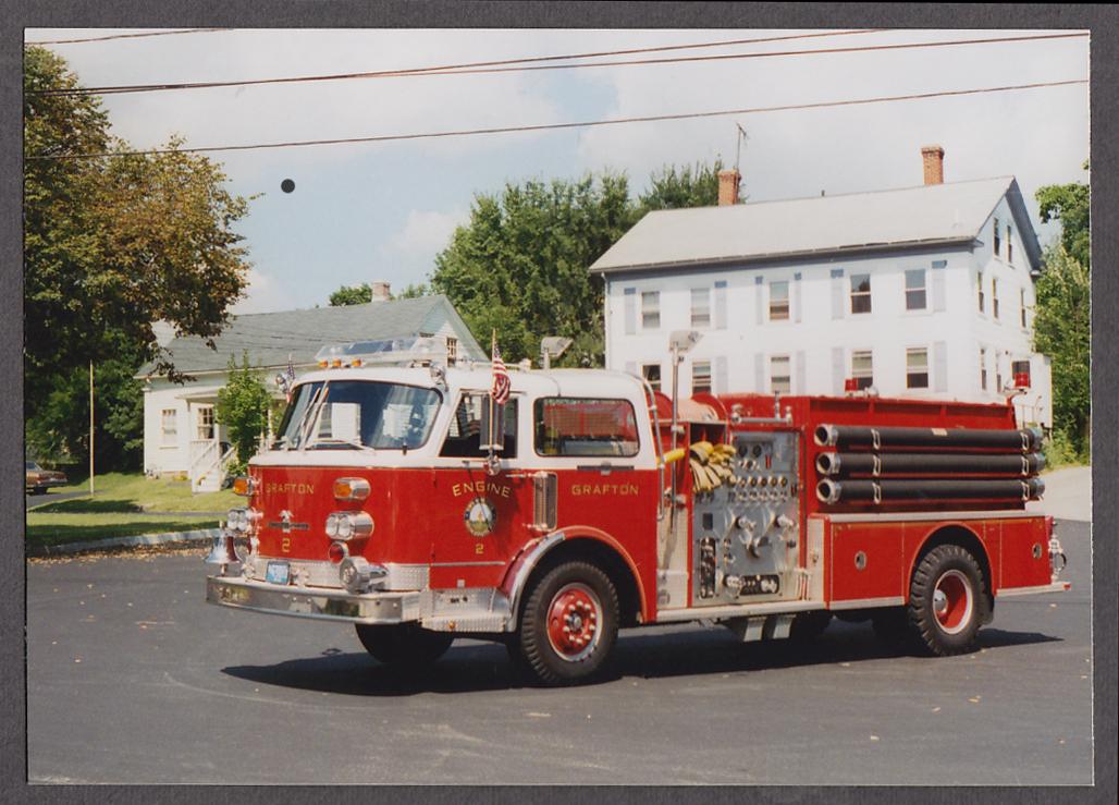 Image for Grafton MA FD American LaFrance Pumper Engine #2 fire truck photo