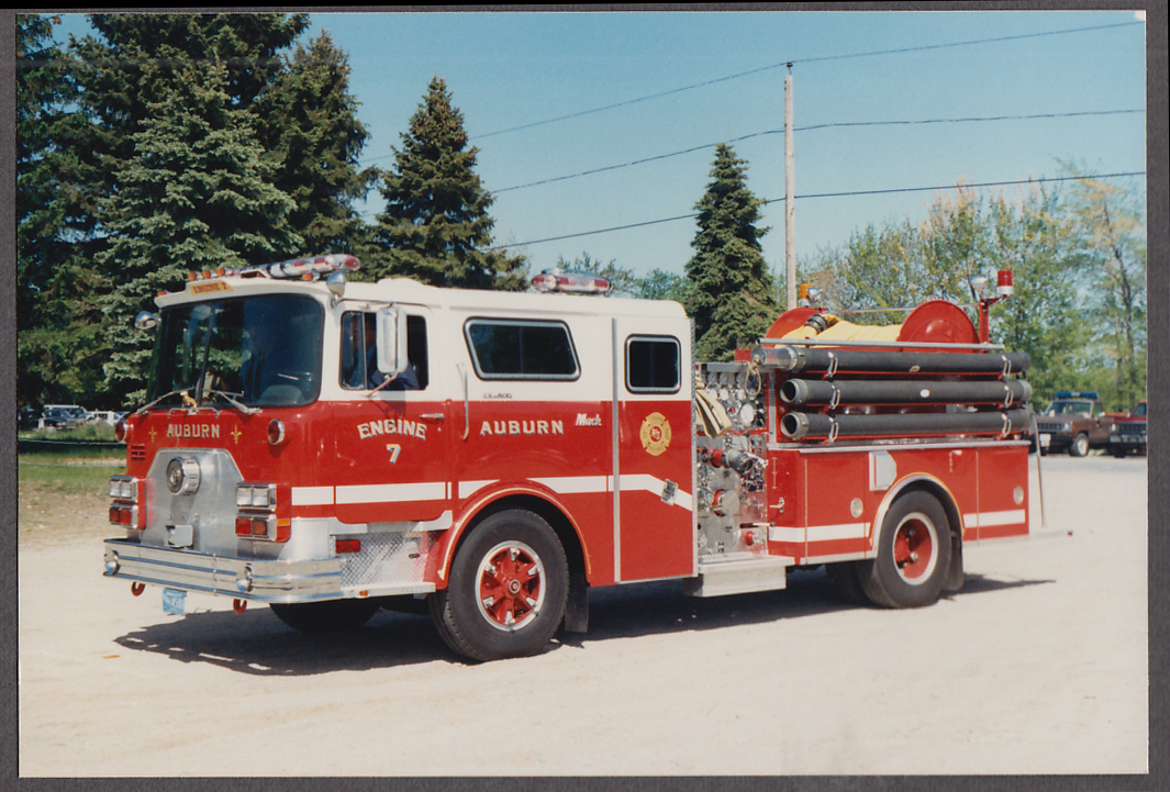 Image for Auburn MA FD Mack Ppumper Engine #7 fire truck photo