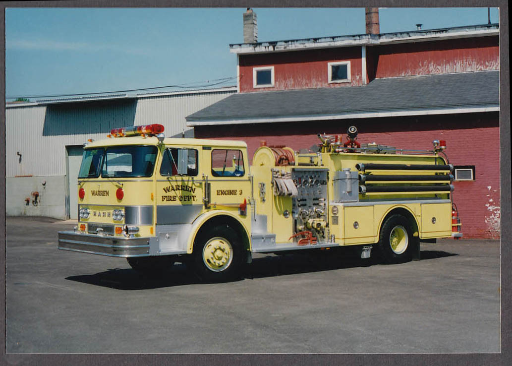 Warren MA FD Mann Pumper Engine #2 fire truck photo