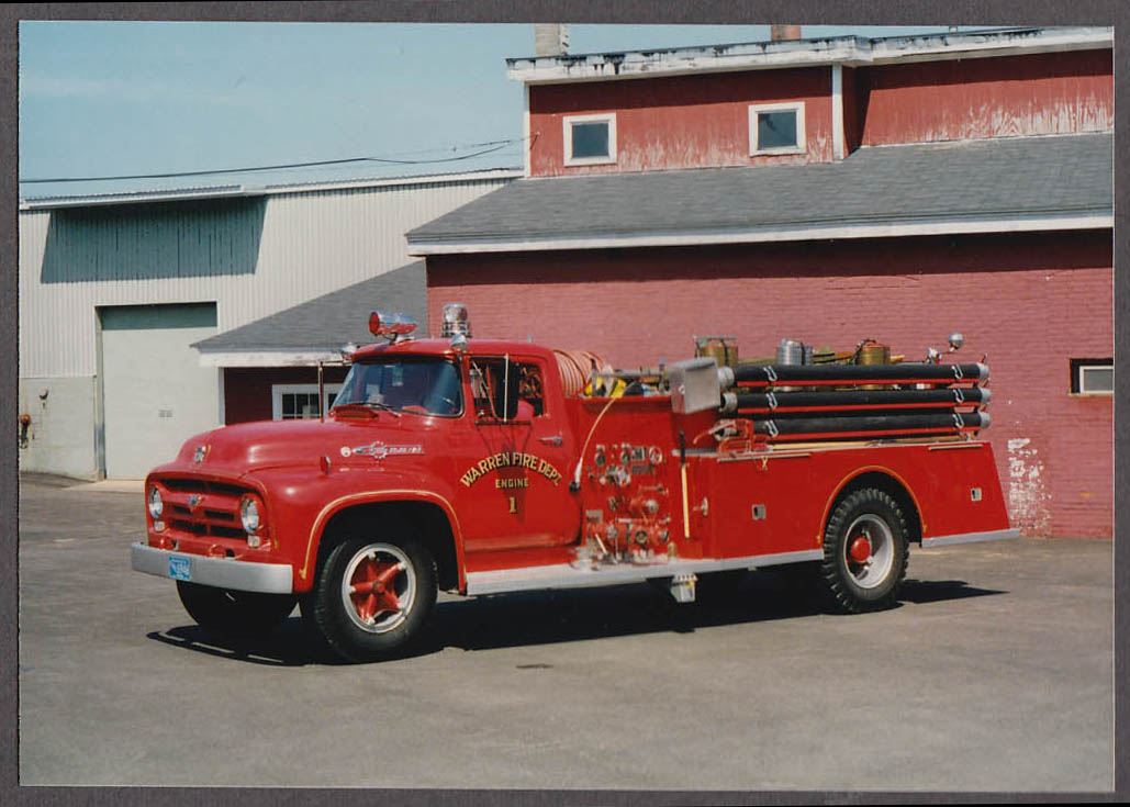 Warren MA FD Ford Big Job F-150 Pumper Engine #1 fire truck photo
