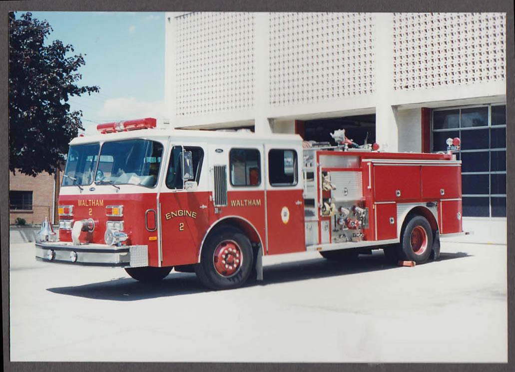 Waltham MA FD E-One Pumper Engine #2 fire truck photo
