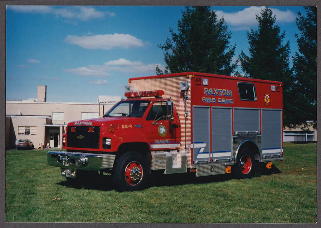 Paxton MA FD Chevrolet Kodiak Rescue Engine #22-R fire truck photo on lawn