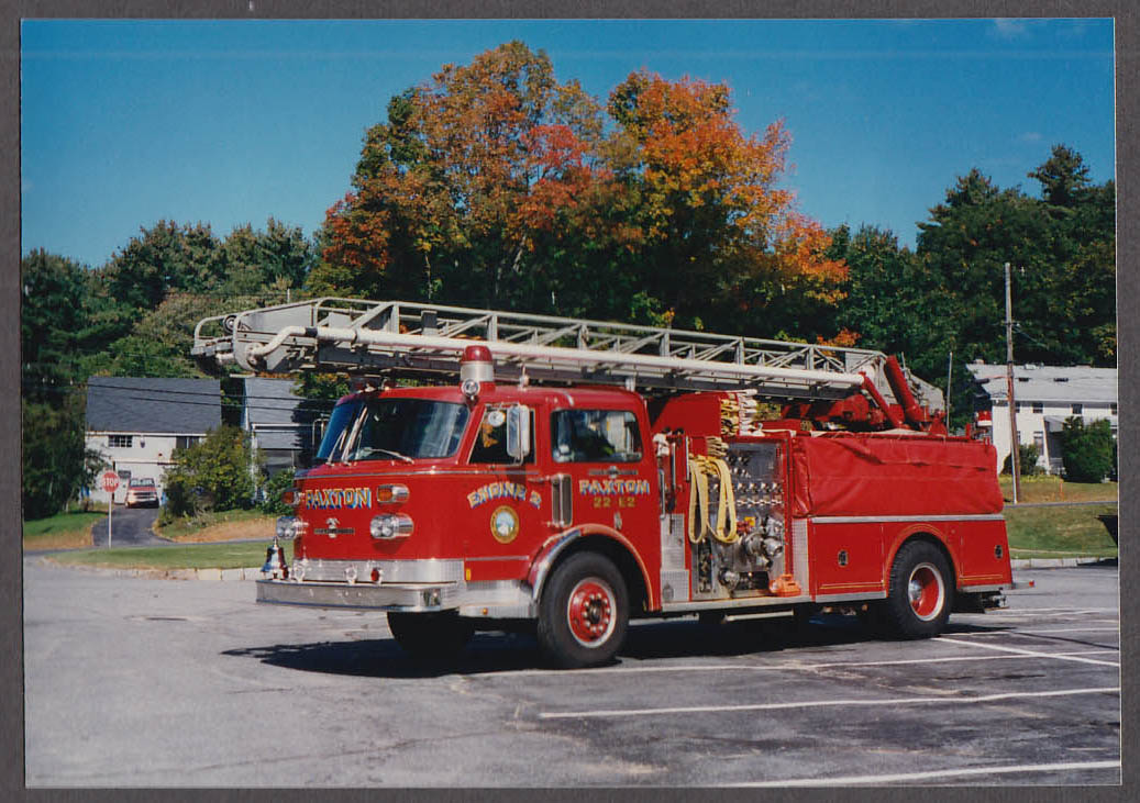 Paxton MA FD American LaFrance Ladder Engine #2 fire truck photo