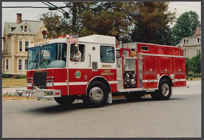 West Brookfield MA FD Pumper Engine #1 fire truck photo
