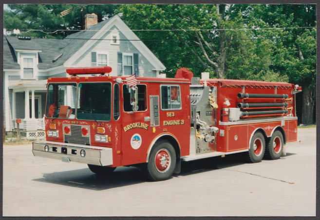 Brookline NH FD KME Pumper Engine #3 fire truck photo