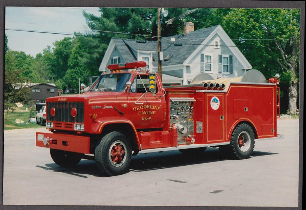 Image for Brookline MA FD GMC Top Kick Farrar Pumper Engine #864 fire truck photo