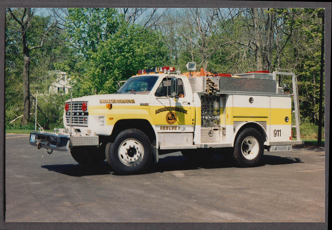 Northborough MA FD Ford Assabet Engine Company Rescue Truck #1 fire truck photo