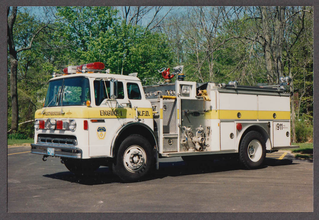 Northborough MA FD Ford Pumper Engine #1 fire truck photo