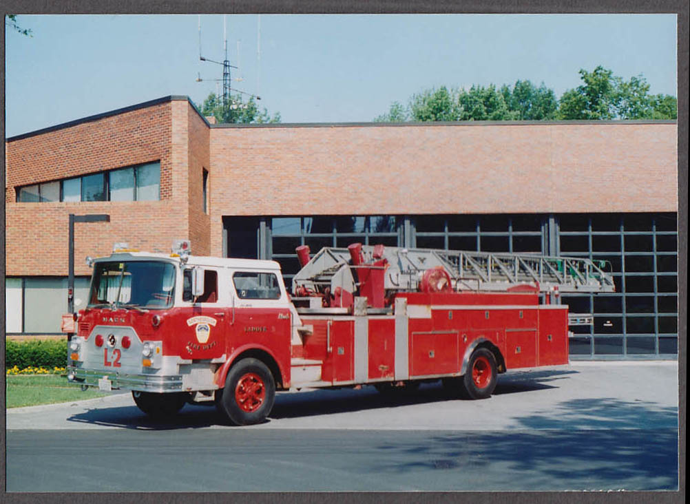 Northborough MA FD Mack Ladder Engine #2 fire truck photo