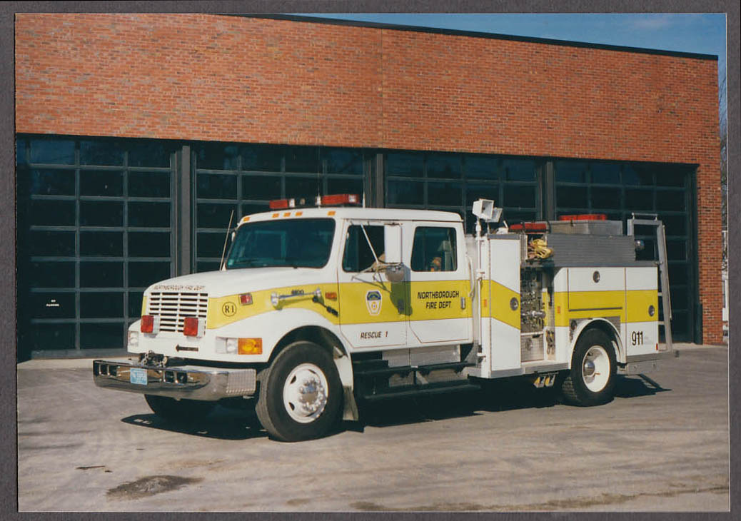Northborough MA FD International 4600 Rescue Engine #1 fire truck photo