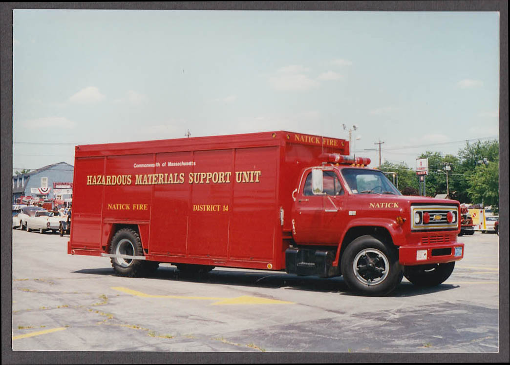Natick MA FD Chevrolet Hazardous Material Support Unit fire truck photo
